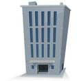 cartoon office building vector image vector image