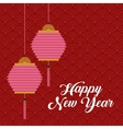 chinese happy new year design vector image vector image