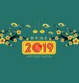 chinese new year of pig design 2019 graceful vector image vector image