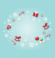 christmas background template with traditional vector image
