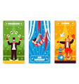 circus vertical banners collection vector image vector image