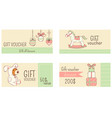 collection horizontal christmas gift vouchers vector image vector image