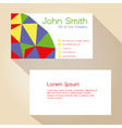 color funky triangles simple business card design vector image vector image