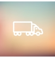 Delivery car thin line icon vector image