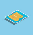 egypt africa explore maps with isometric style vector image vector image