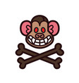 evil monkey head logo template vector image vector image