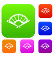 fan set collection vector image vector image