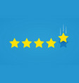 feedback rating concept with five stars vector image