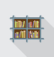 Flat Design Bookshelf On Wall vector image vector image