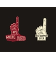 foam finger supporters american football element vector image