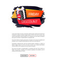 friday discount price tag dotted gift box isolated vector image vector image