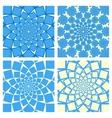 Geometric Background Set Oriental Style vector image vector image