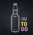 glass drink bottle icon chalkboard vector image