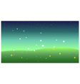 Green Landscape at night vector image
