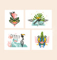 hand drawn abstract graphic cartoon summer vector image vector image