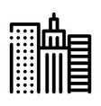 high-rise buildings view icon outline vector image vector image