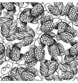 Hop seamless patternBlack hand drawn