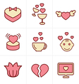 Icons Style love Icons Set Design vector image vector image