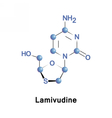 Lamivudine is an antiretroviral medication vector image vector image