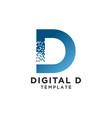letter d pixels logo initial design template vector image vector image