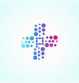 letter p pharmacy colorful purple light logotype vector image