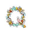 letter q rubbish trash font garbage alphabet vector image vector image