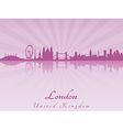London skyline in purple radiant orchid vector image vector image