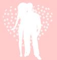 Love in heart vector image vector image