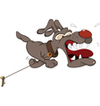 Malicious dog Cartoon vector image