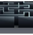 Maze 3d square vector image