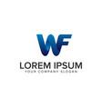 modern letter w and f 3d logo design concept vector image