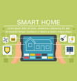 modern smart home concept banner flat style vector image vector image