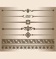 monochrome decorative graphic elements vector image vector image