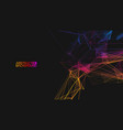 network technology background colorful triangle vector image vector image