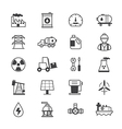 Oil and Industy Icons Line vector image vector image