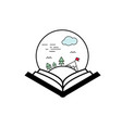 open book paysage vector image