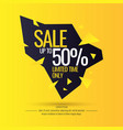 original sale poster for discount vector image