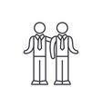 partnership line icon concept partnership vector image vector image