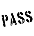 Pass rubber stamp vector image vector image