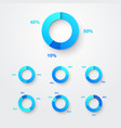 pie chart circle diagram infographic set vector image vector image