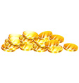 Pile of golden coins vector image vector image