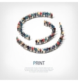 print people sign 3d vector image vector image