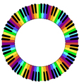 round colored piano keyboard frame vector image vector image