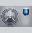 safe with fingerprint lock vector image