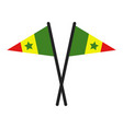 senegal flag in on white background vector image vector image