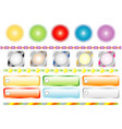 set colors buttons for web vector image