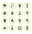 Set round icons of water filters vector image vector image