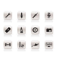 Simple car parts and services icons vector image