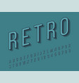 stylish trendy logotype retro bar 3d colorful font vector image vector image