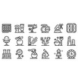 stylist icons set outline style vector image vector image